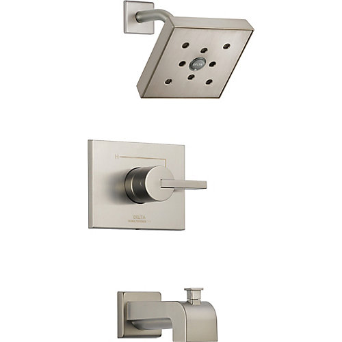 Vero Monitor 14 Series Tub and Shower Trim with H2Okinetic, Stainless Steel