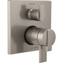 Delta Angular Modern Monitor 17 Series Valve Trim with 3-Setting Integrated Diverter, Stainless Steel