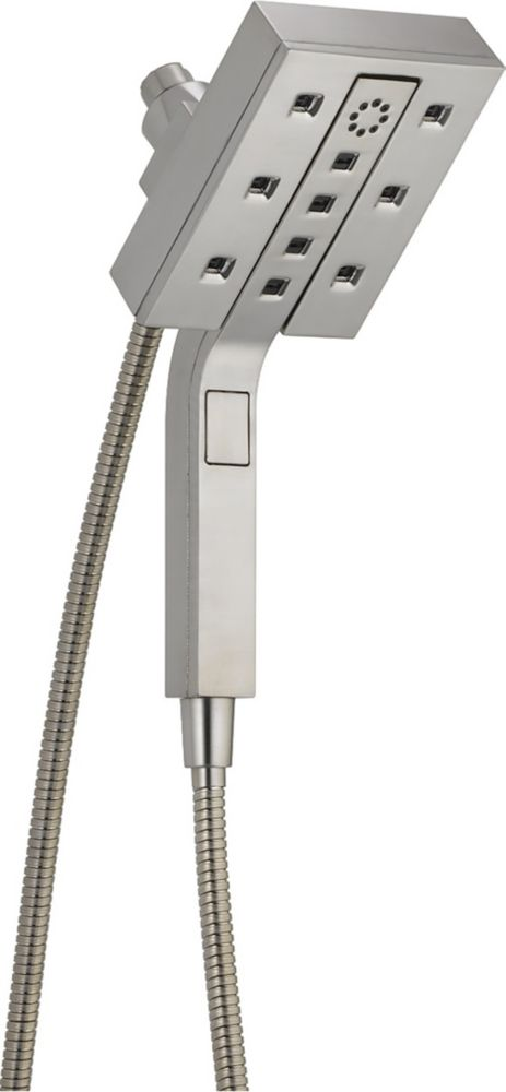 Delta H2Okinetic In2ition 4-Setting Two-in-One Shower, Stainless Steel