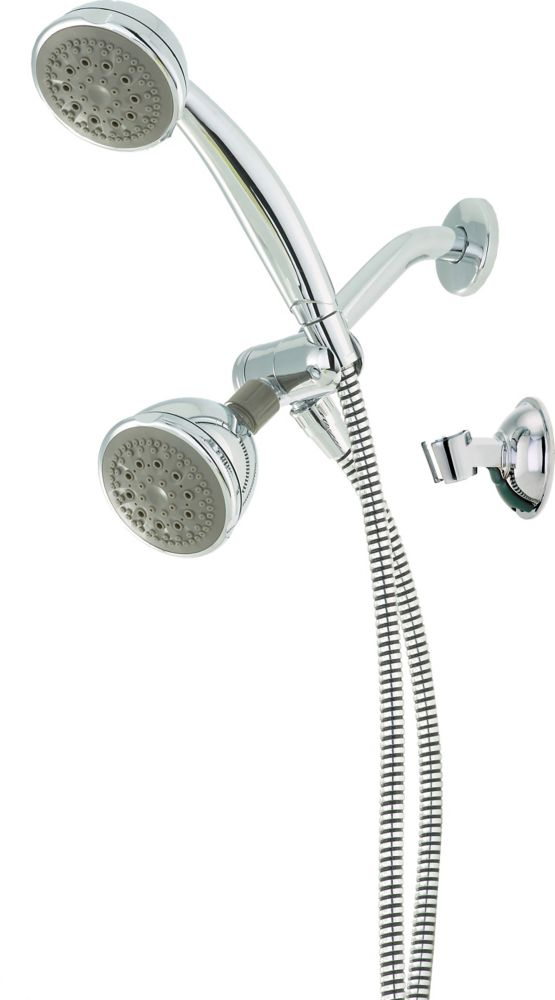 Delta 5-Setting Hand Shower and Shower Head, Chrome