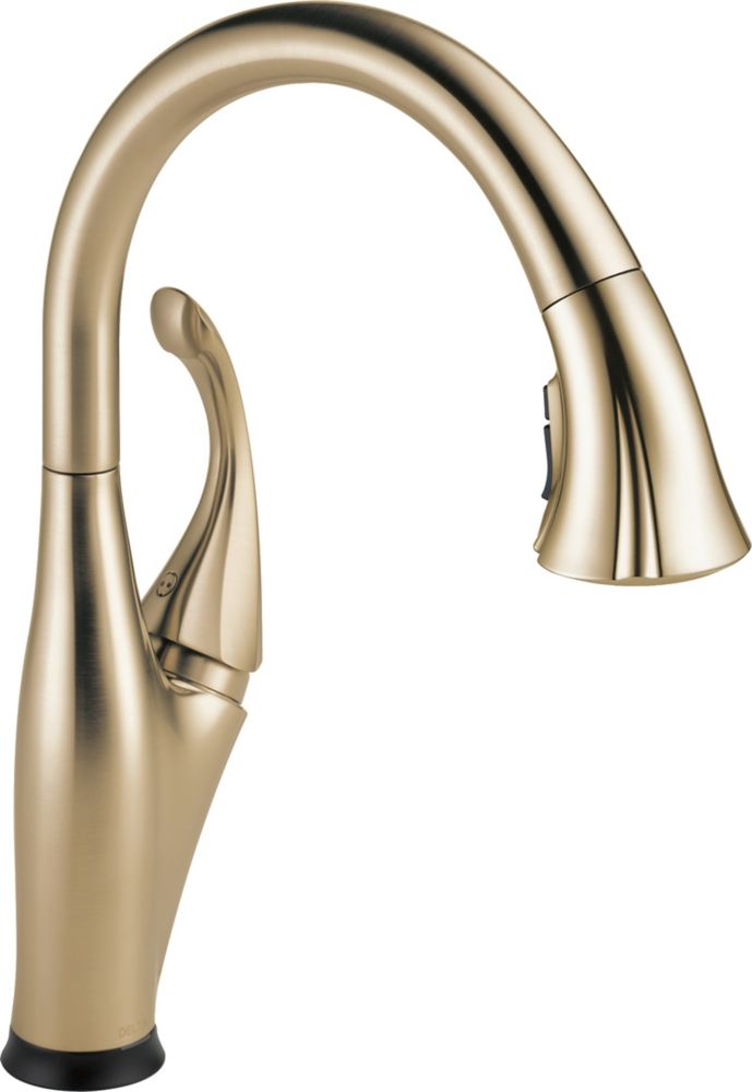 Delta Single Handle Pull-Down Kitchen Faucet with Touch2O(R) Technology, Champagne Bronze