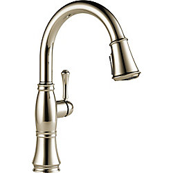 Cassidy Single Handle Pull Down Kitchen Faucet, Polished Nickel