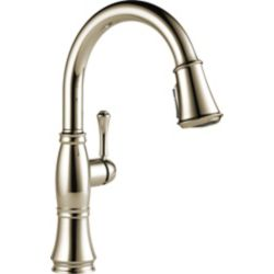 Delta Cassidy Single Handle Pull Down Kitchen Faucet, Polished Nickel