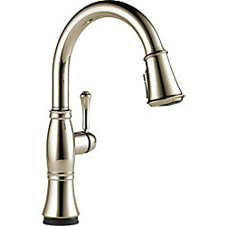 Cassidy Single Handle Pull-Down Kitchen Faucet with Touch2O Technology, Polished Nickel