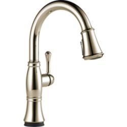 Delta Cassidy Single Handle Pull-Down Kitchen Faucet with Touch2O Technology, Polished Nickel