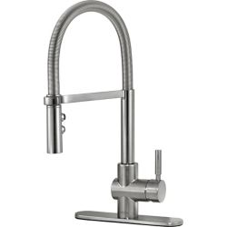 Delta Struct Single Handle Pull-Down Kitchen Faucet with Spring Spout, Arctic Stainless