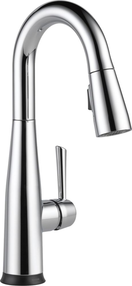 Delta Essa Single Handle Pull-down Bar/Prep Faucet with Touch2O, Chrome