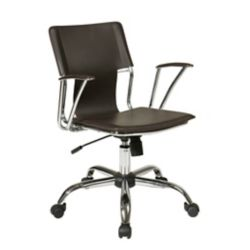Ave Six Dorado Office Chair in Espresso Vinyl and Chrome Finish