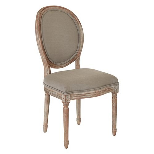Ave Six Lillian Oval Back Chair in Klein Otter Brushed Frame