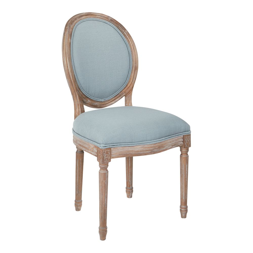 Ave Six Lillian Oval Back Chair in Klein Sea Brushed Frame