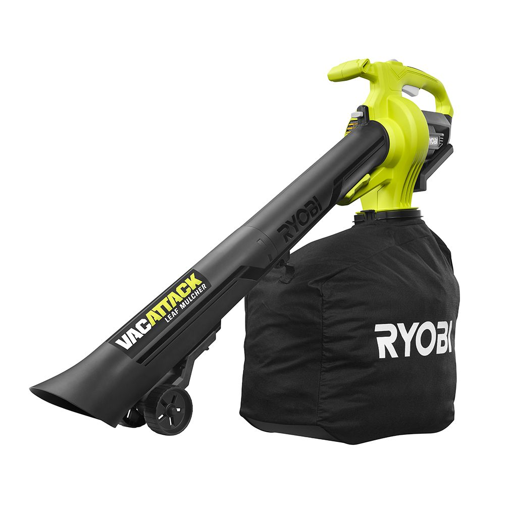 RYOBI 40V Li-Ion Cordless Leaf Vacuum / Mulcher with 4.0 Ah Battery and Charger
