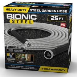 Bionic Steel 0.63 inch Dia. x 25 ft. Heavy-Duty Stainless Steel Garden Hose