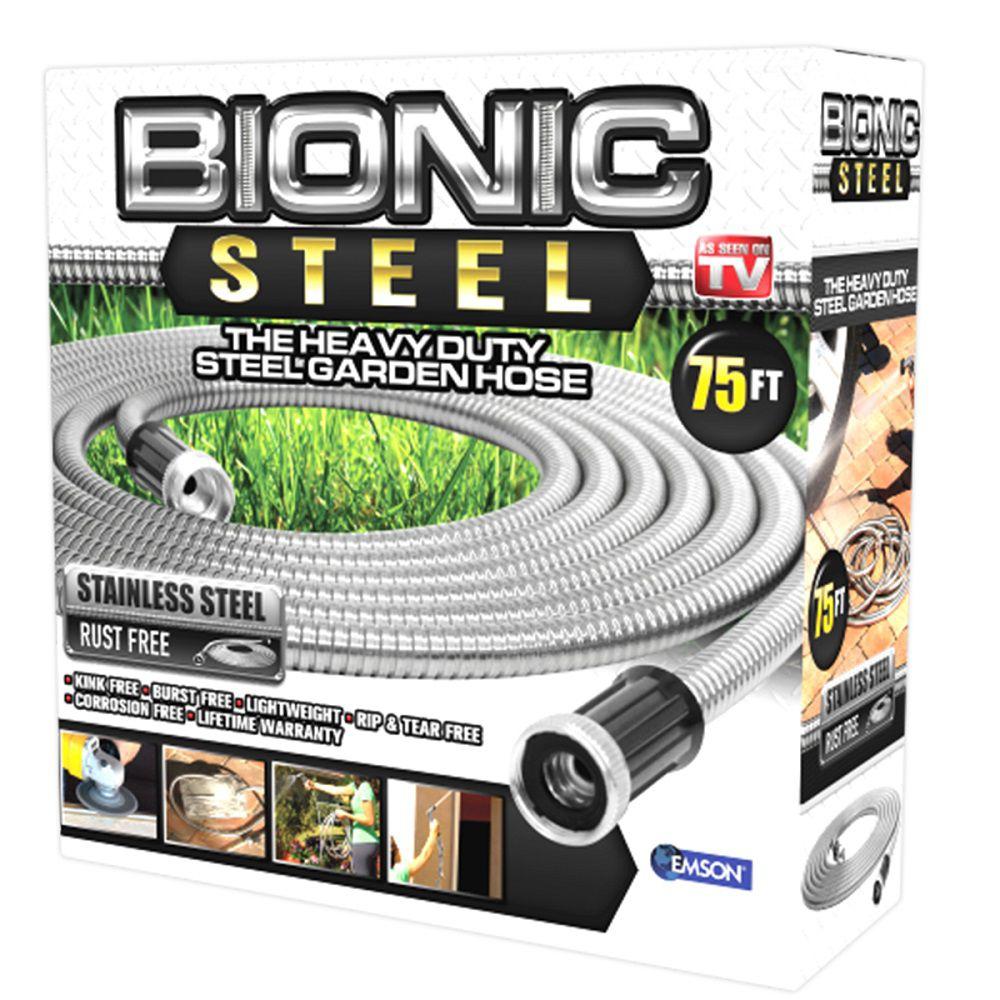 Bionic Steel 0.63 inch Dia. x 75 ft. Heavy-Duty Stainless Steel Garden Hose