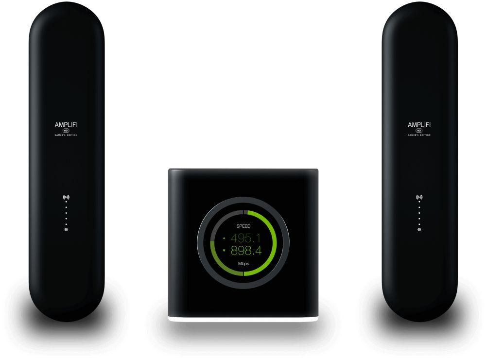 AmpliFi High Density Home Wi-Fi System with Router and Two Mesh Points Low Latency Gamer's Edition