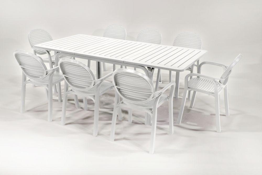 Nardi 9 Piece Alloro Gardenia Patio Set White
