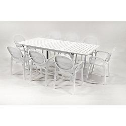 Nardi 9-Piece Alloro/Gardenia Patio Set - White
