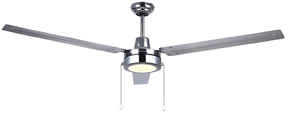 LED 56 inch Commercial Chrome Ceiling Fan