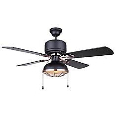 GUNNAR 42 inch Matte Black and Bronze Ceiling Fan