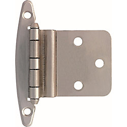 Liberty 3/8 inch Satin Nickel Inset Hinge without Spring (10-Pack)