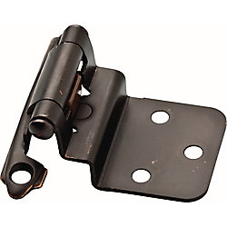 Liberty Venetian Bronze 3/8 inch Self-Closing Inset Hinge (1-Pair)