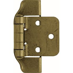 Liberty 1/2 inch Antique Brass Semi-Wrap Overlay Hinge (1-Pair)