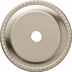 Liberty 1-1/4 inch Satin Nickel Ribbed Edge Cabinet Knob Back plate