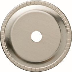 Liberty 1-1/4 inch Satin Nickel Ribbed Edge Cabinet Knob Back plate