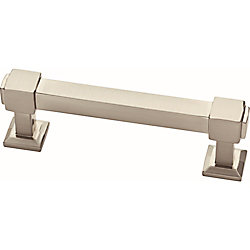 Liberty Classic Square 3inch (76mm) Satin Nickel Cabinet Pull