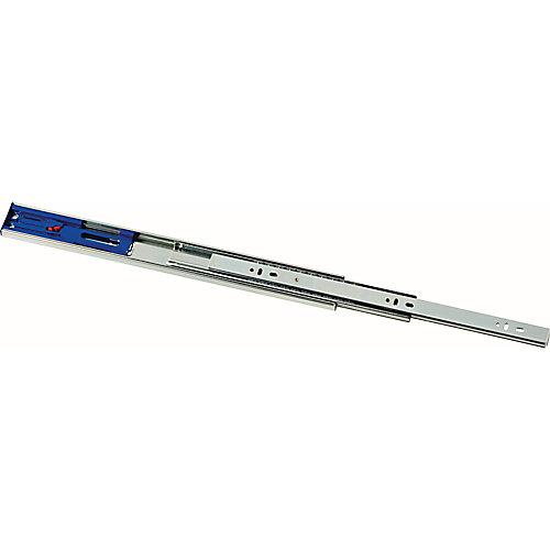 Glissière pour tiroir à roulement à billes, pleine extension, fermeture en douceur, 406mm (1paire)