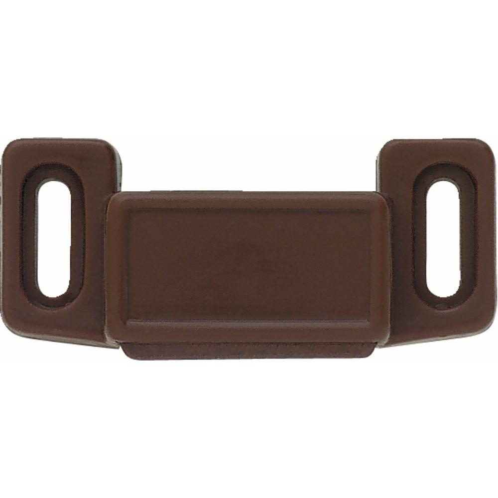 Liberty 1-1/2 inch Brown Economy Magnetic Door Catch