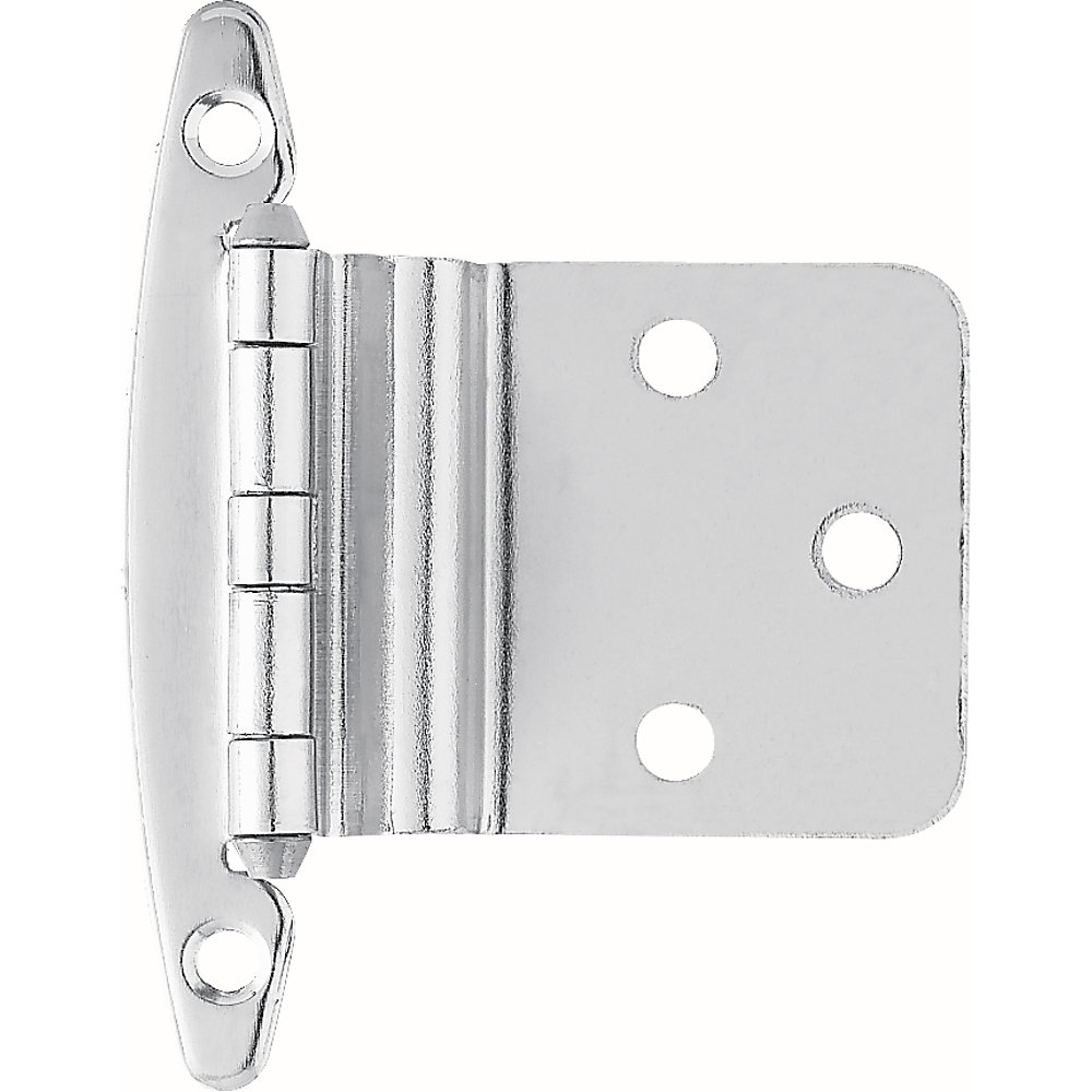 3/8 inch Chrome Inset Hinge without Spring (1-Pair)