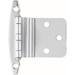 Liberty 3/8 inch Chrome Inset Hinge without Spring (1-Pair)