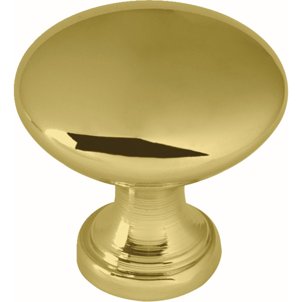 Liberty 1-1/4 inch Polished Brass Hollow Cabinet Knob