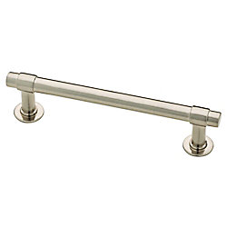 Liberty Essentials Francisco 4 inch (102mm) Satin Nickel Cabinet Pull (10-Pack)
