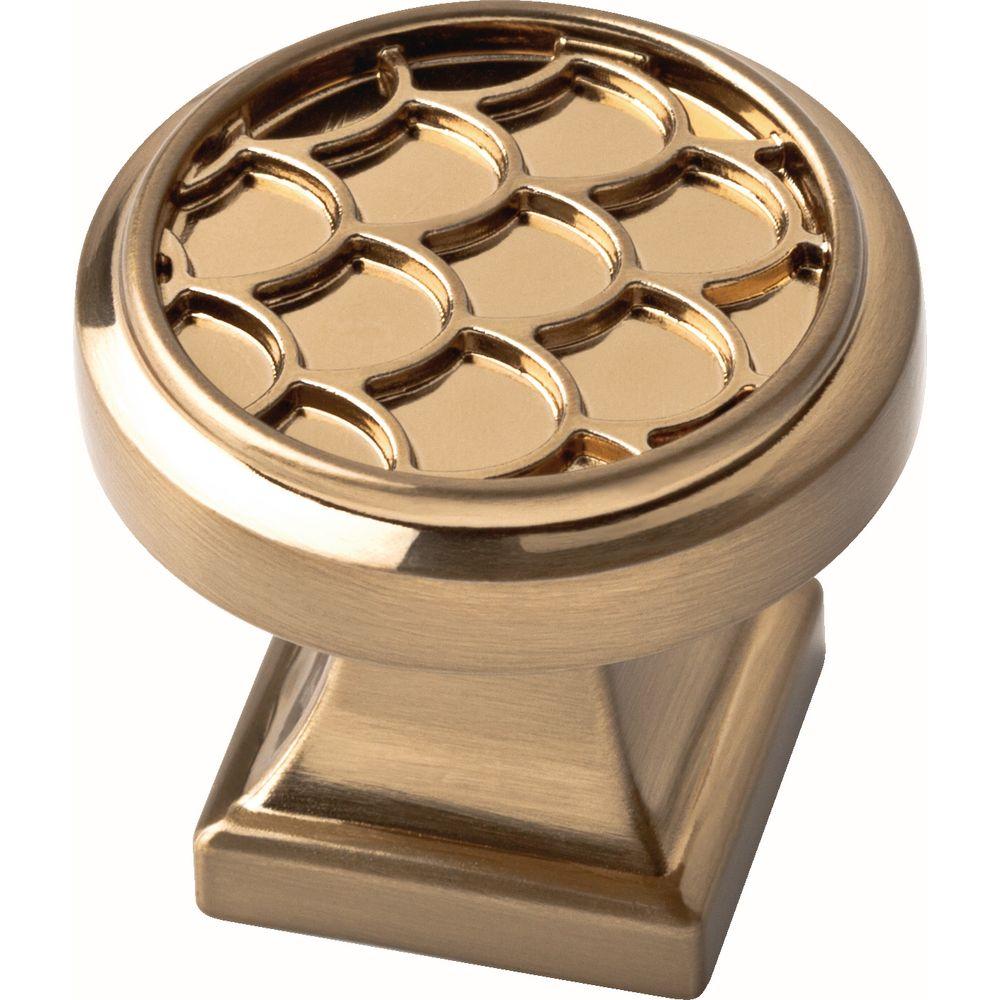 Liberty 1-1/4 inch Champagne Bronze Scalloped Cabinet Knob
