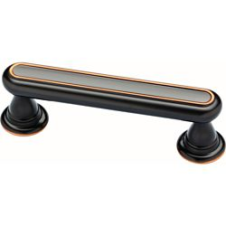 Delta Porter 3 inch (76mm) Oil Rubbed Bronze Cabinet Pull (2-Pack)