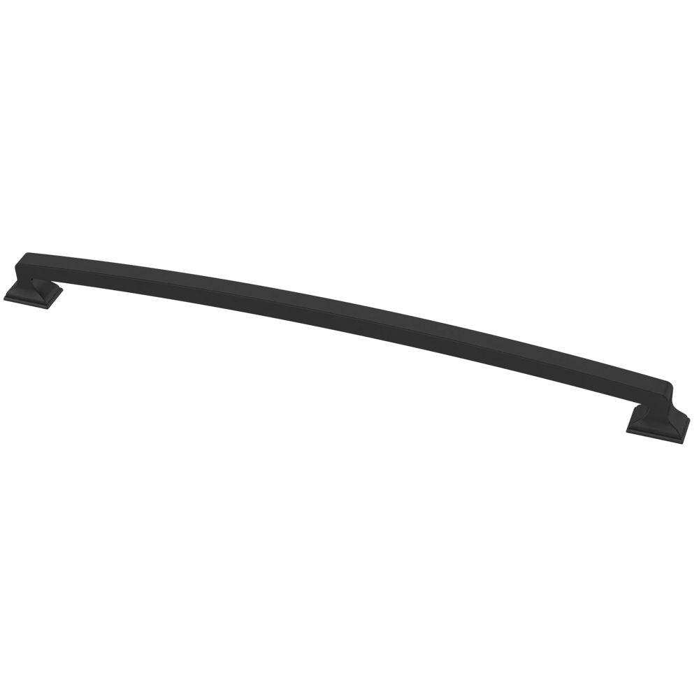 Liberty Classic Edge 12 inch (305mm) Flat Black Cabinet Pull