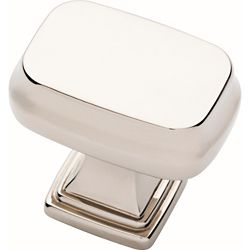 Liberty Brightened Opulence 1-5/16 inch (33mm) Polished Nickel Square Cabinet Knob