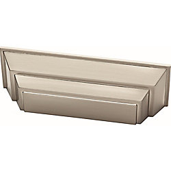 Liberty Classic Square 3inch (76mm) Satin Nickel Cabinet Cup Pull