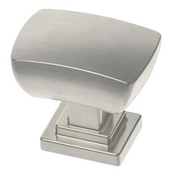 Liberty Wrapped Square 1-3/16 inch (30mm) Satin Nickel Cabinet Knob