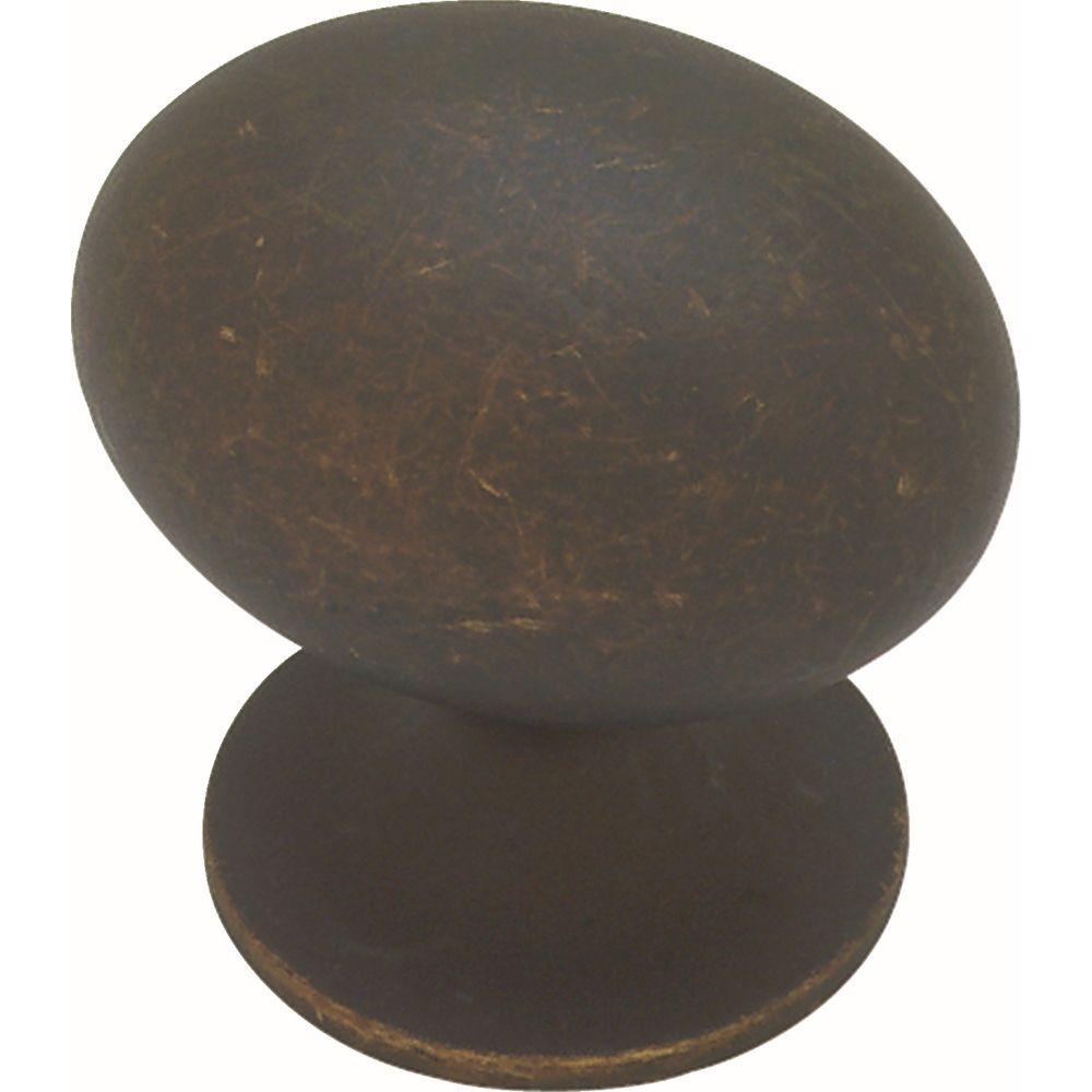 Liberty Fusilli 1-3/8 inch Distressed Oil Rubbed Bronze Large Football Cabinet Knob
