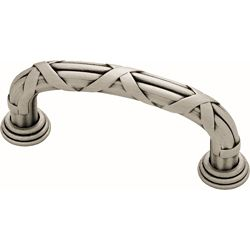 Liberty French Romantics 3 inch (76mm) Brushed Satin Pewter Ribbon and Reed Cabinet Pull