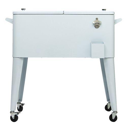Permasteel Patio Coolers-80 QT - White