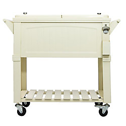 Permasteel Patio Cooler Furniture Style 80QT - Cream