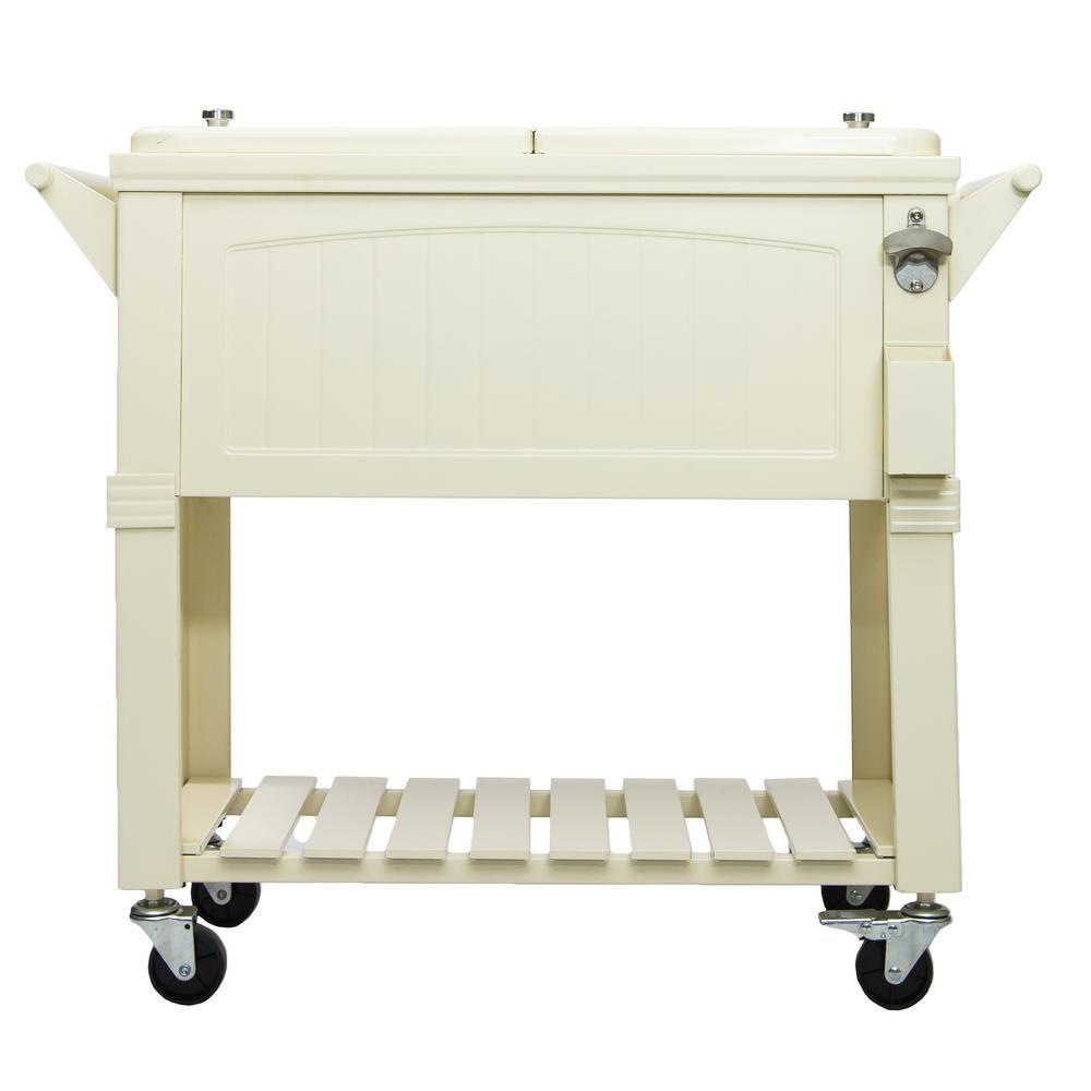Permasteel Patio Cooler Furniture Style 80QT - Cream