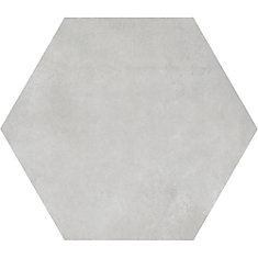 Carreau de porcelaine haute définition Matte Artisano Quartz Hexagon 7 x 8 po  (2,8 pi.ca/carton)