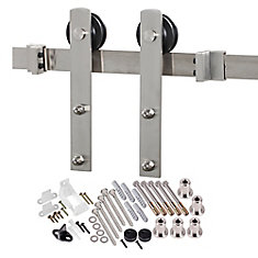 Premium Stainless Steel Interior Modern Country Rustic Barn Door Closet Straight Hardware Track Kit