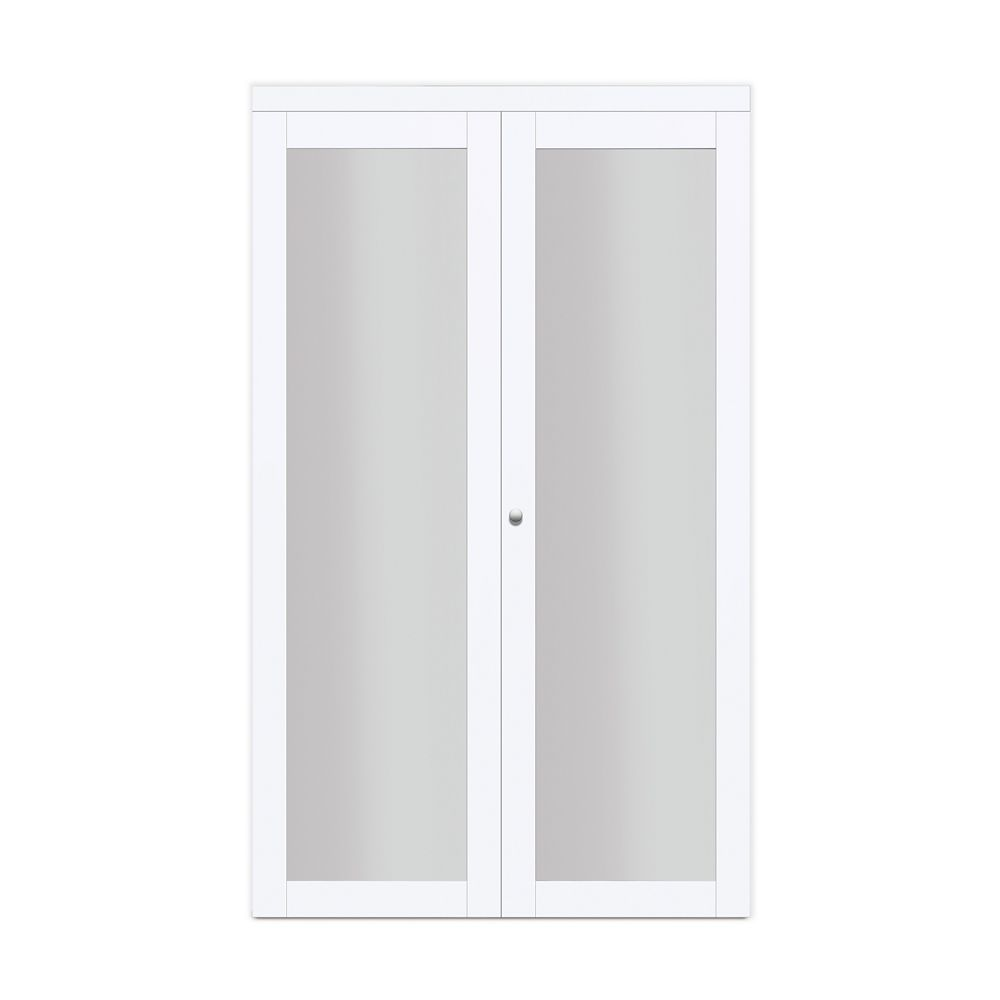 Truporte 24 Quot Modern European Off White Bi Fold Closet Door