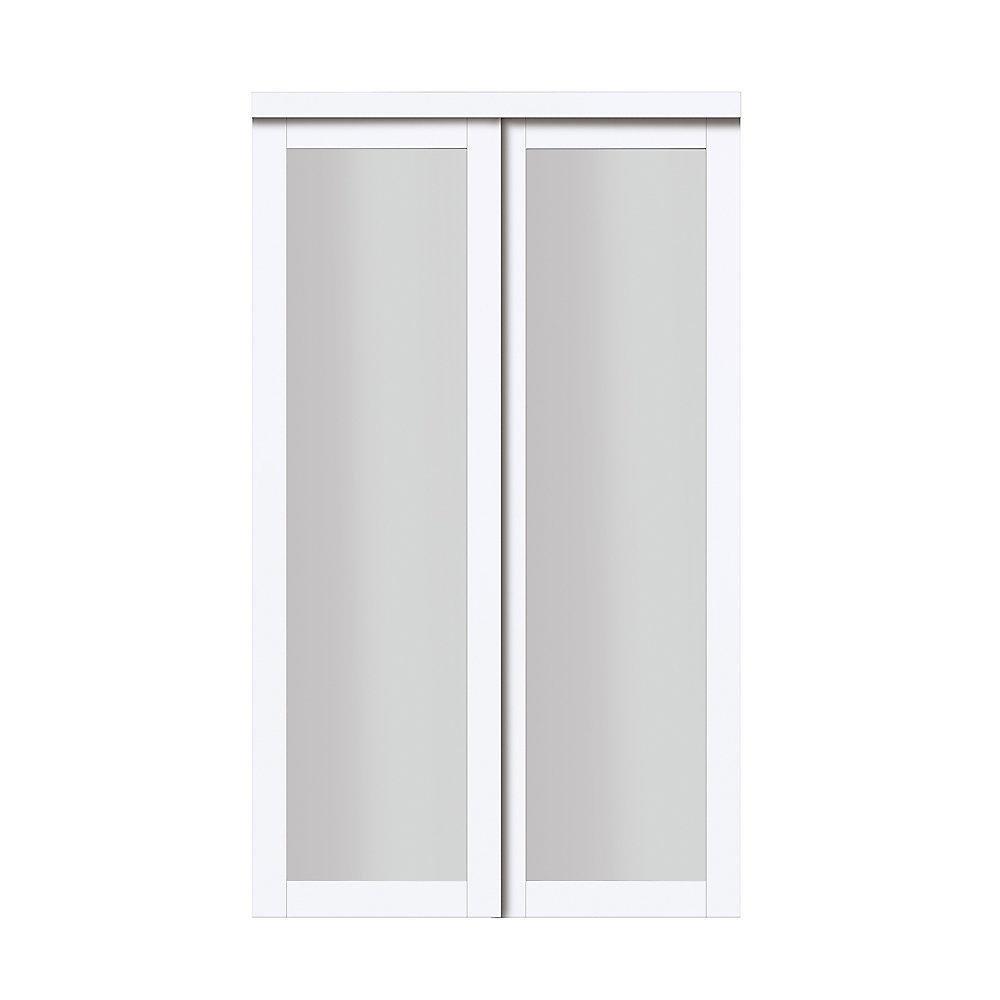 48 Quot Modern European Off White Sliding Closet Door 1