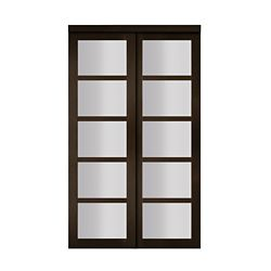 Veranda 72 Inch White Framed 6 Panel Sliding Door The